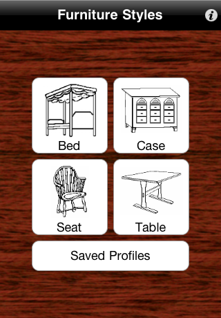 Furniture styles by connected lines identify antique and Furniture apps for iphone